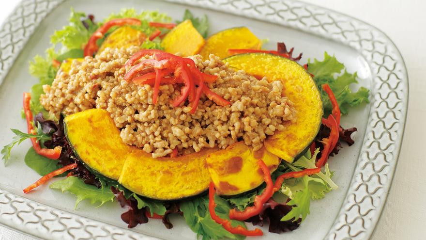 かぼちゃのホットスパイシーサラダ レシピ 平山 由香さん|【みんなのきょうの料理】おいしいレシピや献立を探そう