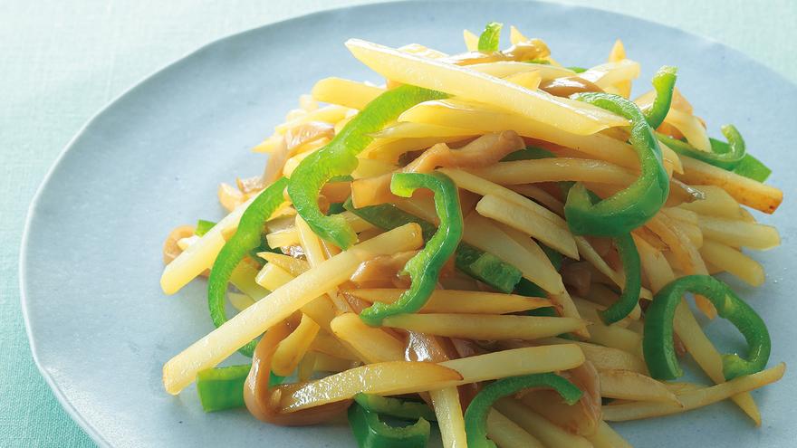 じゃがいもとピーマンのザーサイ炒め レシピ 河野 雅子さん|【みんなのきょうの料理】おいしいレシピや献立を探そう