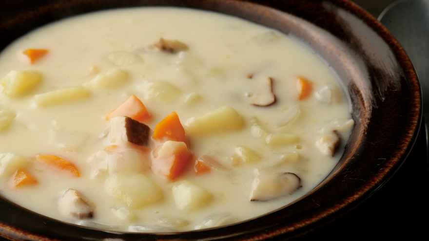 秋野菜のミルクシチュー レシピ 土井 善晴さん|【みんなのきょうの料理】おいしいレシピや献立を探そう