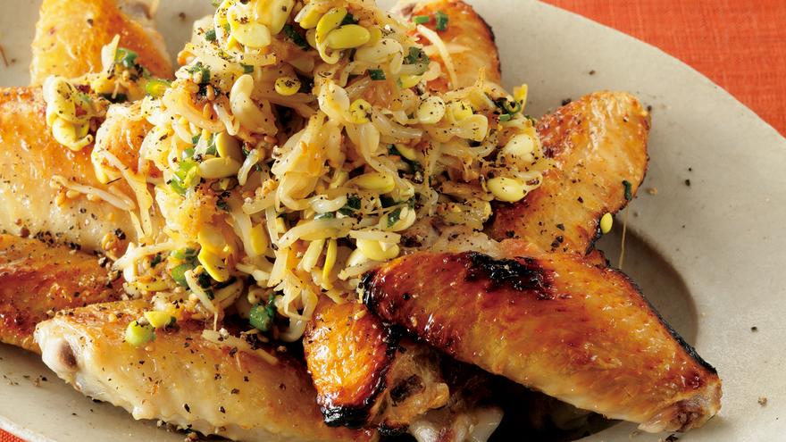 鶏手羽のもやしヤンニョムかけ レシピ コウ ケンテツさん|【みんなのきょうの料理】おいしいレシピや献立を探そう