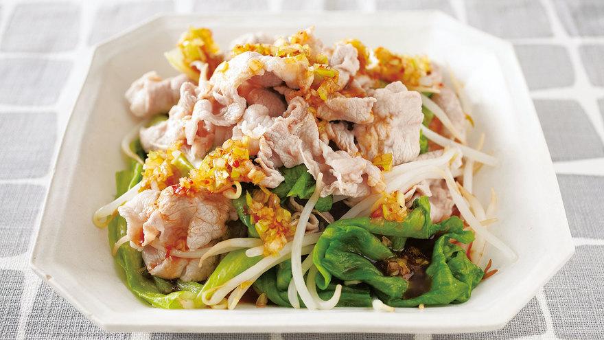 ゆで野菜の豚しゃぶのねぎだれがけ レシピ 小田 真規子さん 【みんなのきょうの料理】おいしいレシピや献立を探そう