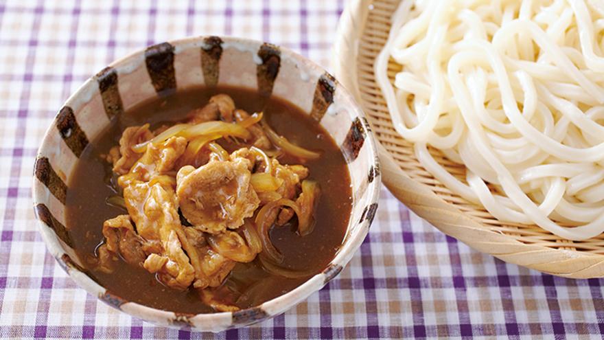 冷やしうどんのカレーつけ麺