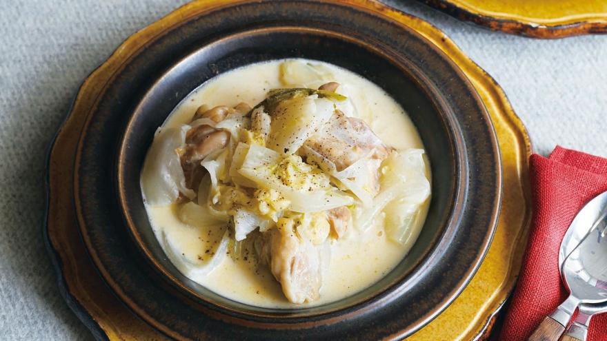白菜 鶏肉 クリーム 煮