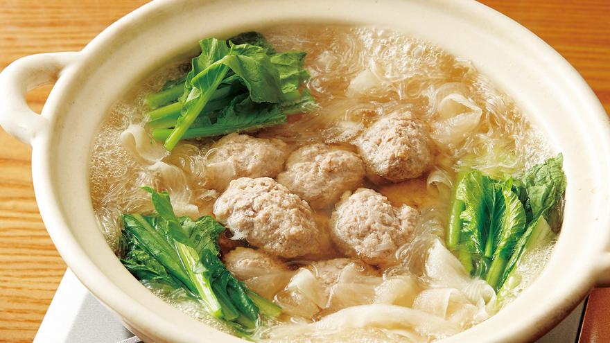 スープ 団子 春雨 肉