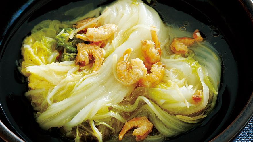 白菜 エビ レシピ