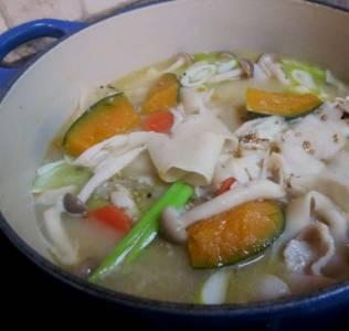 ほうとう麺もここのレシピを使って作りました。だしも矢張りここのレシピ。とても美味しいくて山梨ほうのレストランにも負けない味です。