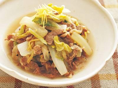 白菜 と 豚肉 の 煮物